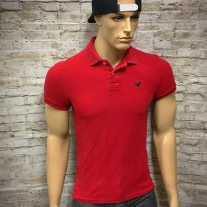 Men's American Eagle Vintage Fit Polo Shirt Sz S